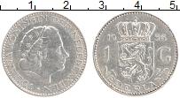 Изображение Монеты Нидерланды 1 гульден 1956 Серебро XF Юлиана
