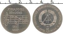 Изображение Монеты ГДР 5 марок 1972 Медно-никель UNC- Иоганн Брамс