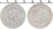 Изображение Монеты Чехословакия 100 крон 1948 Серебро XF 100 лет Карлову унив