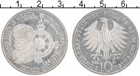 Изображение Монеты ФРГ 10 марок 1992 Серебро UNC- D Паур Мерите 150 ле