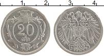 Изображение Монеты Австрия 20 геллеров 1907 Медно-никель XF