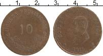 Изображение Монеты Мексика 10 сентаво 1915 Бронза XF Гражданская война. О