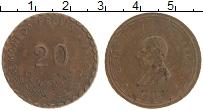 Изображение Монеты Мексика 20 сентаво 1915 Бронза XF Гражданская война. О