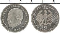 Изображение Монеты ФРГ 2 марки 1984 Медно-никель UNC- G. Конрад Аденауэр