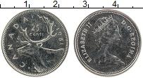 Изображение Монеты Канада 25 центов 1981 Медно-никель UNC- Елизавета II