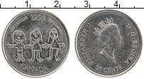 Изображение Монеты Канада 25 центов 1999 Медно-никель UNC- Миллениум. Сентябрь