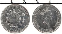 Изображение Монеты Канада 25 центов 2000 Медно-никель UNC Миллениум. Общество