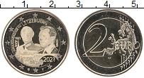 Изображение Мелочь Люксембург 2 евро 2021 Биметалл UNC 100 лет со дня рожде