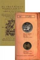 Изображение Подарочные монеты Испания Дон Кихот 2005  UNC Подарочный набор пос