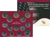 Изображение Подарочные монеты США Набор 2014 года 2014  UNC