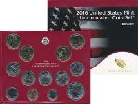 Изображение Подарочные монеты США Набор 2016 года 2016  UNC