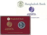 Продать Подарочные монеты Бангладеш 10 така 2011 Серебро