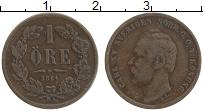 Изображение Монеты Швеция 1 эре 1864 Медь XF Карл XV