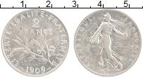 Изображение Монеты Франция 2 франка 1909 Серебро XF Редкий год