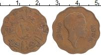 Изображение Монеты Ирак 10 филс 1943 Бронза XF Фейсал II (Брак заго