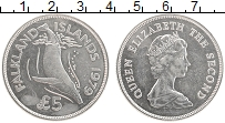 Изображение Монеты Фолклендские острова 5 фунтов 1979 Серебро UNC Защита живой природы