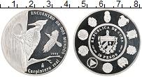 Изображение Монеты Куба 10 песо 1994 Серебро Proof Защита живой природы