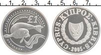 Изображение Монеты Кипр 1 фунт 2005 Серебро Proof Сохранение животного