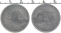 Изображение Монеты Индия 2 рупии 2009 Сталь XF
