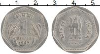 Изображение Монеты Индия 1 рупия 1985 Медно-никель XF