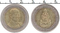 Изображение Монеты Таиланд 10 бат 2006 Биметалл UNC- 60 лет правления кор