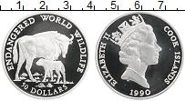 Изображение Монеты Острова Кука 50 долларов 1990 Серебро Proof Сохранение животного