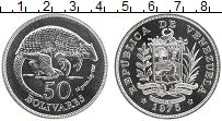 Изображение Монеты Венесуэла 50 боливар 1975 Серебро UNC Сохранение животного