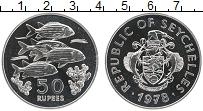 Изображение Монеты Сейшелы 50 рупий 1978 Серебро Proof Рыбы