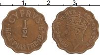 Изображение Монеты Кипр 1/2 пиастра 1945 Бронза XF Георг VI