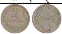 Изображение Монеты Колумбия 2 сентаво 1921 Медно-никель XF Лепразорий