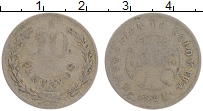 Изображение Монеты Колумбия 10 сентаво 1921 Медно-никель VF Лепразорий