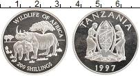 Продать Монеты Танзания 200 шиллингов 1997 Серебро
