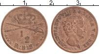 Изображение Монеты Дания 1/2 скиллинга 1842 Медь XF Кристиан VIII