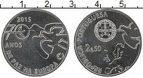 Изображение Монеты Португалия 2 1/2 евро 2015 Медно-никель UNC 70  лет  мира  в  Ев
