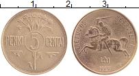 Изображение Монеты Литва 5 центов 1925 Латунь XF