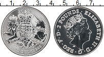 Изображение Монеты Великобритания 2 фунта 2021 Серебро UNC Герб Великобритании