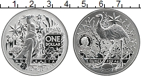 Изображение Монеты Австралия 1 доллар 2021 Серебро Proof Кенгуру