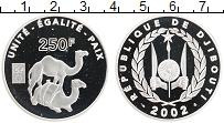 Продать Монеты Джибути 250 франков 2002 Серебро