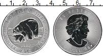 Изображение Монеты Канада 8 долларов 2015 Серебро UNC Медведи