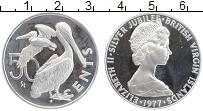 Изображение Монеты Виргинские острова 50 центов 1977 Серебро Proof Елизавета II
