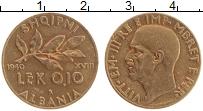 Изображение Монеты Албания 0,1 лек 1940 Латунь UNC-