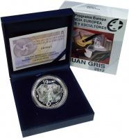 Изображение Подарочные монеты Испания 10 евро 2012 Серебро Proof Хуан Грис. Серебро 9