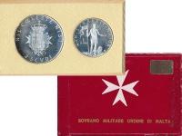 Изображение Подарочные монеты Мальтийский орден Набор 1969 года 1969 Серебро Proof-