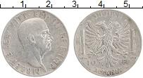 Изображение Монеты Албания 10 лек 1939 Серебро XF Витторио Эмануил III