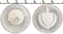 Изображение Монеты Куба 10 песо 1980 Серебро UNC Космический полет СС