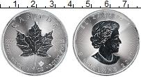 Изображение Монеты Канада 5 долларов 2017 Серебро UNC Кленовый лист