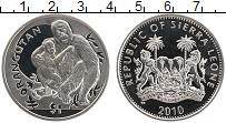 Изображение Монеты Сьерра-Леоне 1 доллар 2010 Медно-никель UNC Орангутан