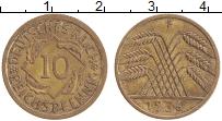 Изображение Монеты Веймарская республика 10 пфеннигов 1936 Латунь XF F