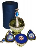 Изображение Подарочные монеты Фиджи Последняя русская королевская семья 2009 Серебро Proof