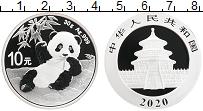 Изображение Монеты Китай 10 юаней 2020 Серебро Proof Панда